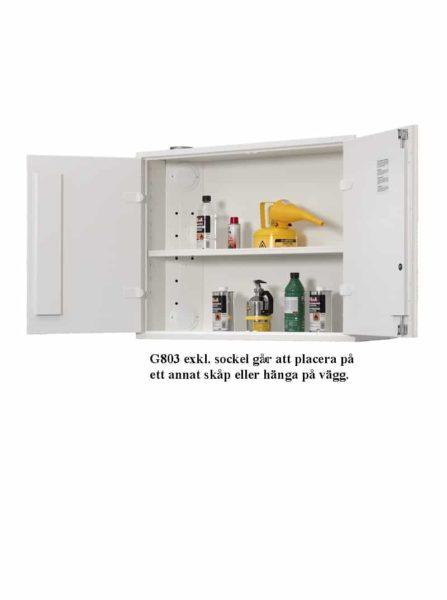 Kemikalieskåp G803GLL