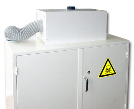 "CDF-P ""Air recycling box"" Fläkt inkl. filter till kemikalieskåp"